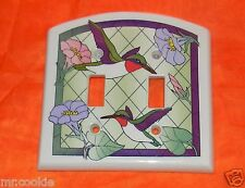 NEW Now That's Switch Hummingbird Ceramic Double Toggle Switch Plate Cover