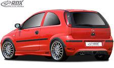 RDX approccio posteriore Opel Corsa C Facelift poppa Grembiule POSTERIORE approccio spoiler diffusore