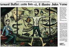 Coupure de presse Clipping 1990 (4 pages) Bernard Buffet
