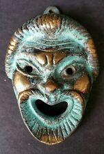Katritsis Bronze Face Mask Mid Century Modern Art Sculpture Hand Made In Greece