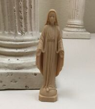 Vintage Madonna Virgin Mary Tiny Small Figurine Plastic Made Hong Kong