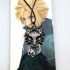 Final Fantasy Cloud Wolf Logo Metal Necklace Cosplay
