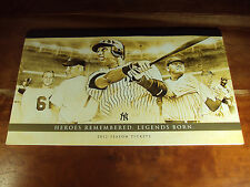 2012 NY Yankees Season Ticket Book NM Derek Jeter 16 Home Dates x 2 ea = 32 TOT