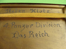 German military CIGARETTE CASE VINTAGE from OFFICER HOME WW2 WWII SIGNATURE