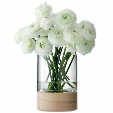LSA Lotta Glass Vase with Ash Base - 18cm High