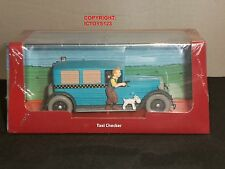 TINTIN BOOK COMIC TAXI CHECKER IN AMERICA USA DIECAST MODEL CLASSIC CAR + FIGURE