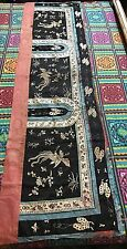 """ANTIQUE CHINESE WALL HANGING HAND EMBROIDERY ON SILK 20""""X 72"""""""