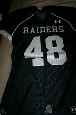 NEW!  UNDER ARMOUR  MENS FOOTBALL JERSEY SHIRT OAKLAND RAIDERS #48 YOUTH MEDIUM