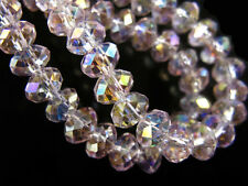 100pcs Glass Crystal Rondelle Loose Beads For Necklace&Bracelet Findings 6mm