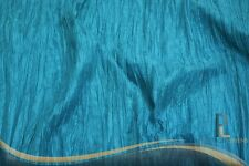 PER BY THE YARD FABRIC - CRUSHED TAFFETA ACCORDION CRINKLE HOME DÉCOR - TEAL