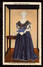 period dress mary lincoln u.s.national museum smithsonian linen people postcard