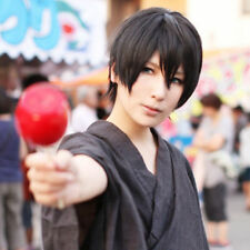 Free! Haruka Nanase Short Black Anime Cosplay Hair Wig +a wig cap