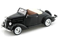 1:18 Welly Black 1936 Ford Deluxe Cabriolet Item 19867W