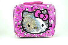 SANRIO HELLO KITTY Insulated Pink & Black School Tote Cooler Snack Lunch Bag Box