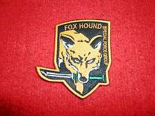 Metal Gear Solid  Embroidered patch fox hound