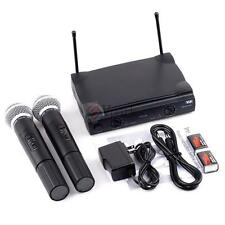 Pro VHF Wireless Cordless Microphone System w Dual Wireless Mic for SHURE