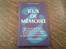 jeux de memoire - thierry m. carabin