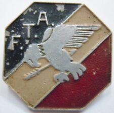 Insigne FTA 1939 Artillerie FORCES TERRESTRES ANTIAERIENNES Augis ORIGINAL