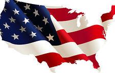 Framed print-BANDIERA AMERICANA approssimativi nel vento (PICTURE POSTER USA AMERICA ART)
