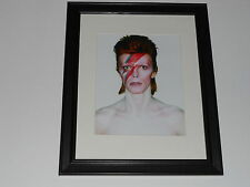"Framed David Bowie Aladdin Sane 1973 Alternate Print Poster 14"" by 17"" Alladin"