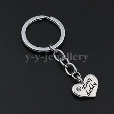 X'mas Gifts For Daddy Love You Crystal Love Heart Keychains Keyrings Key Finder