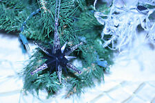 Black Christmas Tree Decorations Black and Silver Stars Silver Tree Decorations
