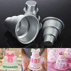 Mini 3-Tier Cupcake Pudding Chocolate Cake Mold Baking Pan Mould Party DIY ft