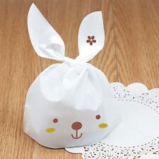 50pcs Wedding Favor Candy Boxes Rabbit Shape Plastic Candy Bags For Party