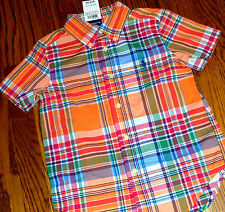 POLO RALPH LAUREN ORIGINAL BOYS BRAND NEW ORANGE DRESS SHIRT TOP Size 7T, NWT