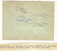 ELLIOTT NUGENT    -    signature of this Director & Actor