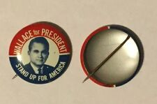 GEORGE WALLACE for PRESIDENT STAND UP AMERICA CAMPAIGN PIN