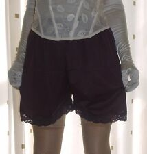 """Vintage style aubergine silky nylon gusset french knickers panties waist 26~40"""""""