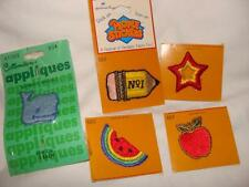 LOT OF 5  HALLMARK PEOPLE STICKERS EMBROIDERED APPLIQUES HALLMARK FREE US SHIP