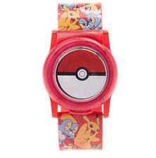 NEW Nintendo Pokemon Pokeball LCD Watch With Light-Up Face Cover Pikachu Froakie