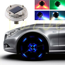 LED Car Auto Solar Energy Flash Wheel Tire Valve Caps Neon Light Lamp Decoration
