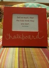CHALKBOARD Wood Photo Frame RED Holds 3.5x5 picture STAND UP 7.5x8 outer