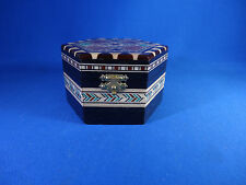 Vtg Spanish Spain Handcrafted Wooden Inlaid Laguna Ring Jewelry Trivet Box