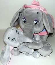 "Baby Dumbo and Mrs Jumbo Mother Plush 15"" Set Storybook Circus Disney Parks NWT"
