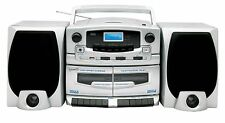 Supersonic AM/FM Double Cassette MP3/CD Player with USB Input SC-2020U NEW