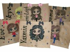 PERSONALISED LARGE HAND PAINTED JUTE BAGS GIFTS 21ST 30TH 40TH DANCING  BEACH!