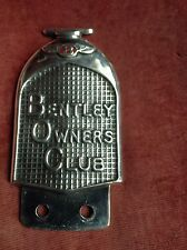 BENTLEY OWNERS CLUB W.O.BENTLEY & DERBY BENTLEY CAR BADGE 1928--1939 RARE&SUPERB
