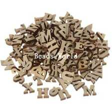 Top Quality Scrapbooking Mixed Home Decoration Wood Craft Letters 100 Pcs 10x7mm