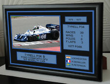 """Tyrell P34B  Tribute Framed Canvas  Print  """"Great Gift"""""""