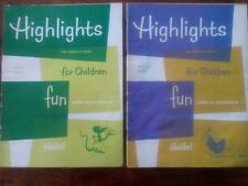 2 Vtg.Highlights for Children Magazines March 1962 April 1962 English Monthly