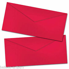 25 Plain Red Valentine's Day Love Letter Romance DL Paper Envelopes