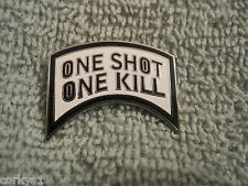 """One Shot-One Kill Awesome Biker Pin/Badge US Special Forces """"One Shot One Kill"""""""