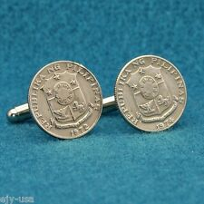 Philippines Coat of Arms Coin Cufflinks, 10 Sentimos