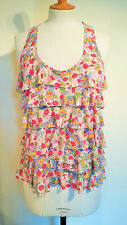 Sweet Top Shop vintage print tiered vest top