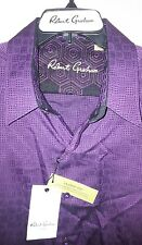 Robert Graham Abstract Embossed Button-Front Shirt: XL (NWT)