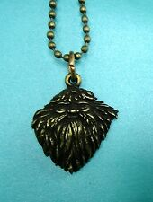 Harry Potter Bronze Toned Hagrid Wizard Charm Pendant Metal Necklace